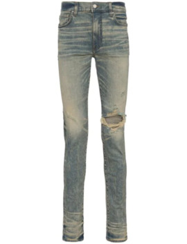 Skinny Jeans In Distressed Optik by Amiri