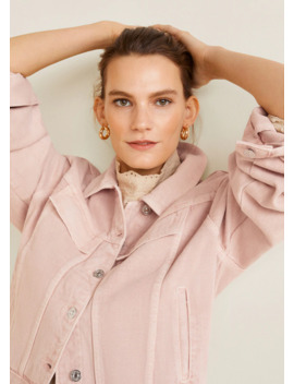 Pink Denim Jacket by Mango