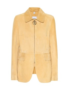 Monogram Suede Riding Jacket by Burberry