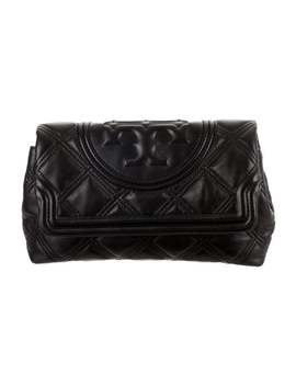 Quilted Leather Clutch by Tory Burch