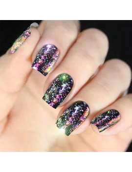New Starry Decorations Nail Pigment Nail Glitter Nail Art Flakes 0.2g Holographic Shining Powder Dust Dazzling Aurora Chameleon by Ali Express.Com