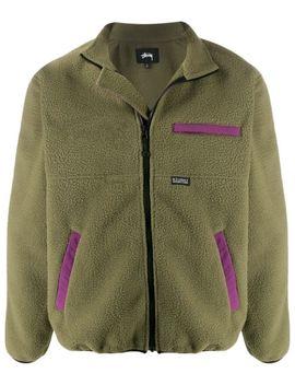 Colour Block Fleece Jacket by Stussy