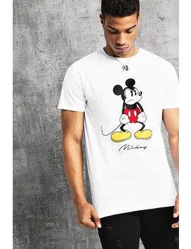 Disney Angry Mickey Print T Shirt by Boohoo