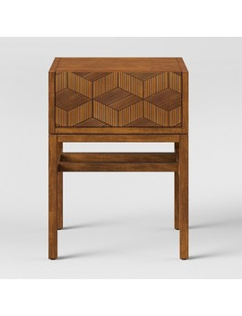 Tachuri Geometric Front Accent Table Brown   Opalhouse™ by Shop Collections