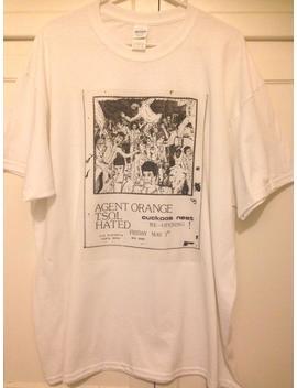 T Shirt Old Punk Rock Concert Flyer Agent Orange Tsol Cuckoos Nest Men And Women's White by Etsy