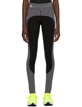 Grey & Black Campaign Leggings by Adidas By Stella Mccartney