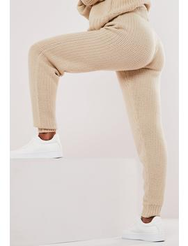 Stone  Co Ord Chunky Knitted Leggings by Missguided