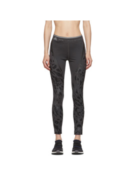 Grey Parley Long Run Tights by Adidas By Stella Mccartney