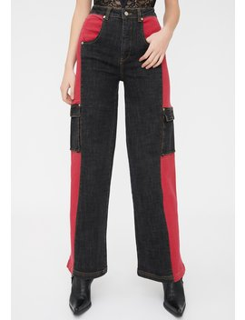 Bessi Denim Cargo Pants by I Am Gia