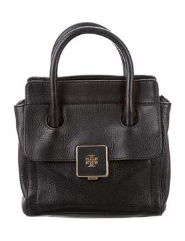 Leather Satchel Bag by Tory Burch