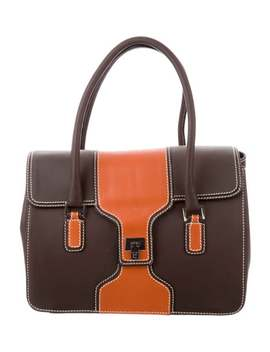 Bicolor Leather Handle Bag by Lambertson Truex