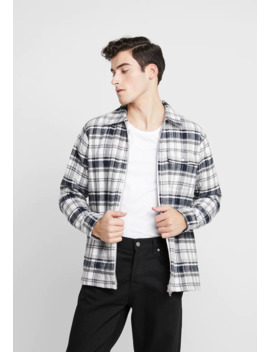 Quilted Checked Overshirt Vegan   Overgangsjakker by Knowledge Cotton Apparel