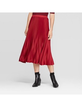 Women's Relaxed Fit High Rise Pleated Skirt   A New Day™ by A New Day