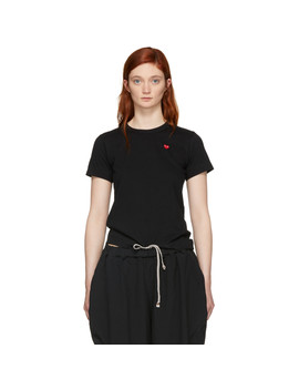 Black Small Heart T Shirt by Comme Des GarÇons Play