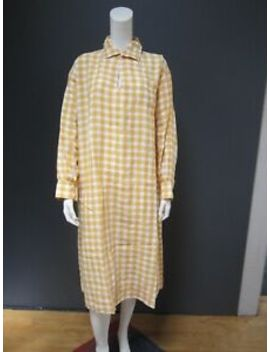45rpm 45 R Dress New With Tag 100  Percents Linen  Size : One Size Fits All  Yellow Vichy by 45rpm 45 R