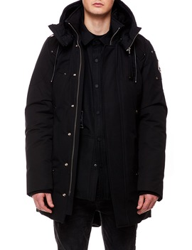 Saint Ulric Genuine Shearling Trim Down Parka by Moose Knuckles
