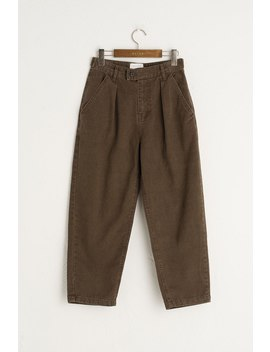 Yuna Pleated Jean, Brown by Olive