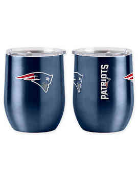 Nfl New England Patriots 16 Oz. Stainless Steel Curved Ultra Tumbler Wine Glass by Bed Bath And Beyond