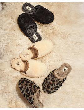Fluffette Leopard Flat Slippers by Ugg