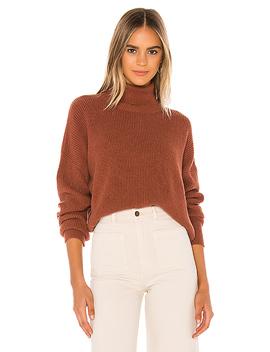 Mindy Turtleneck Sweater In Cognac by Velvet By Graham & Spencer