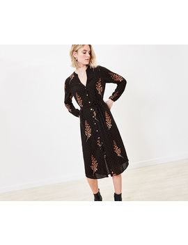 Leaf Print Shirt Dress by Oasis