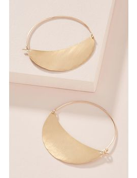 Lila Rice Crescent Hoop Earrings by Lila Rice
