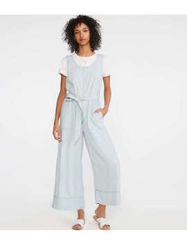 Crosshatch Softstretch Linen Jumpsuit by Loft