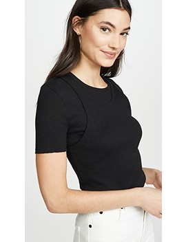 Double Layer Tee by Helmut Lang