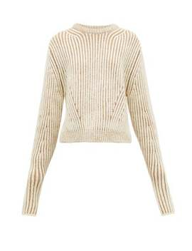 Two Tone Ribbed Wool Blend Sweater by Chloé