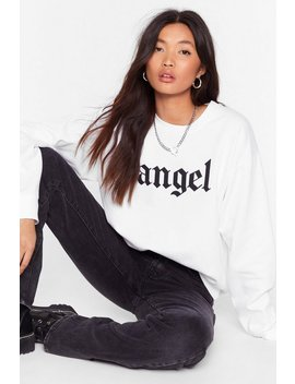 Ain't No Angel Relaxed Graphic Sweatshirt by Nasty Gal