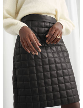 Quilted Leather Skirt by & Other Stories