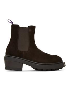 Brown Suede Nikita Chelsea Boots by Eytys