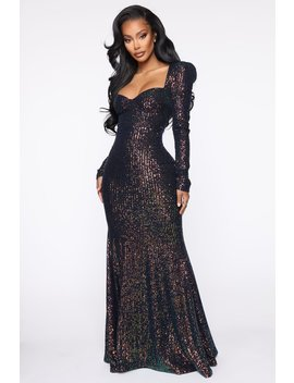 Red Carpet Winner Sequin Maxi Dress   Black by Fashion Nova