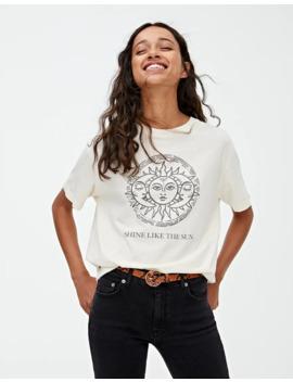 T Shirt Illustration Soleil by Pull & Bear