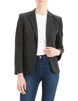 Shrunken Houndstooth Jacket by Theory