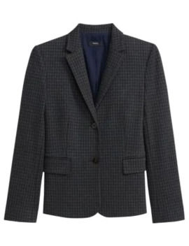Houndstooth Knit Shrunken Jacket by Theory