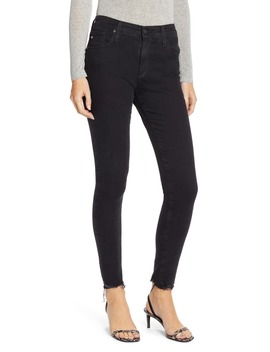 Farrah High Waist Raw Hem Skinny Jeans by Ag