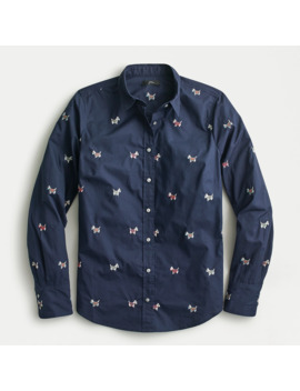 Perfect Shirt In Dog Days Embroidery by J.Crew