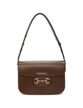 Brown 1955 Horsebit Bag by Gucci