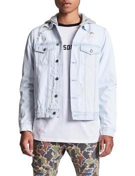 Sidewinder Denim Jacket With Detachable Hood by Nxp