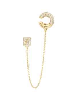 Gold 'fendi Oops' Earring by Fendi