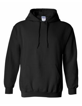 Gildan Plain Hoodie Heavy Blend Blank Sweatshirt Color Black Small by Oxi
