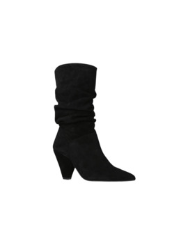 Carvela Scrunch Slouch Boots, Black/Suede by Carvela