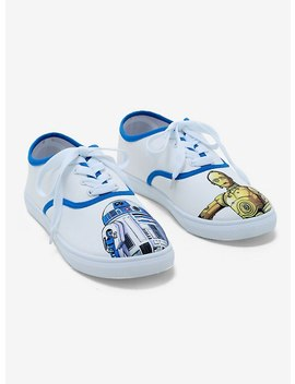 Star Wars R2 D2 & C 3 Po Lace Up Sneakers by Hot Topic