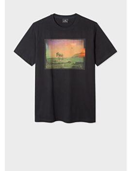 Men's Black 'ufo Zebra' Print Organic Cotton T Shirt by Paul Smith