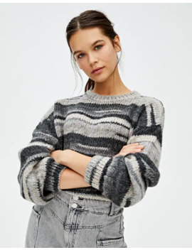 Jersey Rayas Gris by Pull & Bear