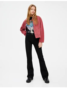 Jeans Campana Negros by Pull & Bear
