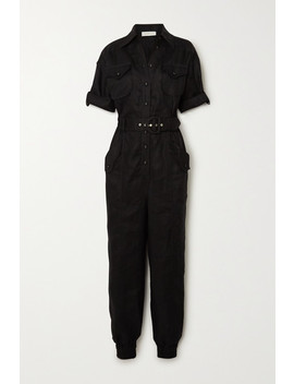 Super Eight Belted Linen Jumpsuit by Zimmermann