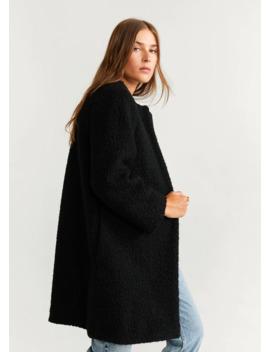 Παλτό με γούνινο γιακά by Mango