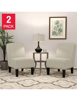 Wallis Fabric Slipper Chair, 2 Pack by Costco